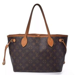 Auth Louis Vuitton Neverfull PM Tote Shoulder Bag
